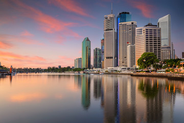 Fototapete - Brisbane. Cityscape image of Brisbane skyline during sunrise in Australia.
