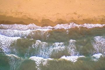 Wall Mural - Top down view of beach
