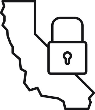 California consumer privacy act icon