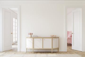 Keuken foto achterwand Hoogte schaal Hallway interior. 3d render.