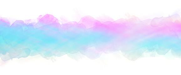 Watercolor stain on a white background. Blue purple streak