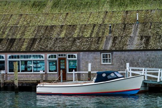The Edgartown Yacht Club, Edgartown, Martha's Vineyard,Massachusetts, USA