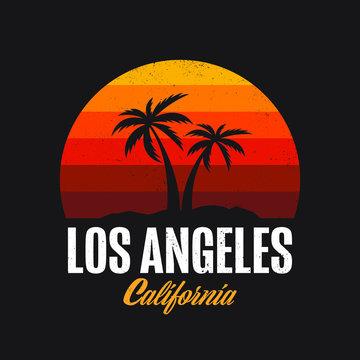 Los Angeles California Logo Design Apparel T-shirt Vector illustration