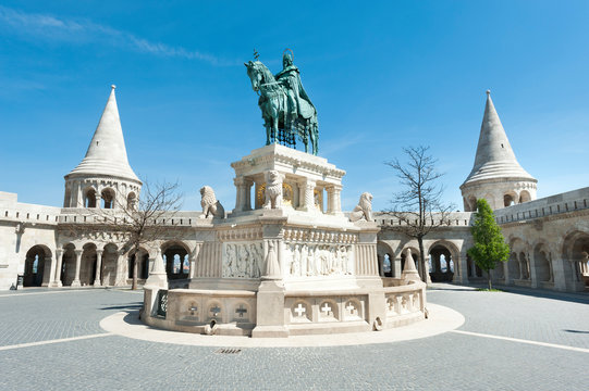 Statue of St. Stephen King in Budapest