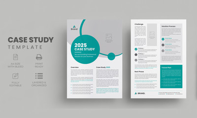 Business case study template | Case Study Booklet | Double Side Flyer Layout