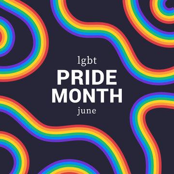 LGBT pride month . Background, poster, postcard, banner design.