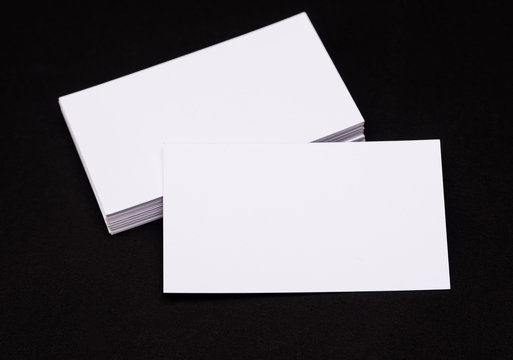 Empty visiting cards for mock-up