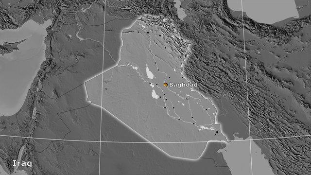 Iraq, bilevel elevation - composition