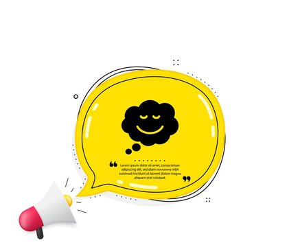 Comic speech bubble with Smile icon. Quote speech bubble. Chat emotion sign. Quotation marks. Classic speech bubble icon. Vector