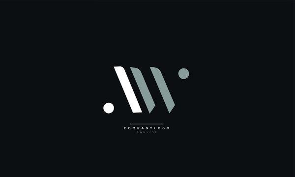 AW Letter Logo Design Icon Vector Symbol