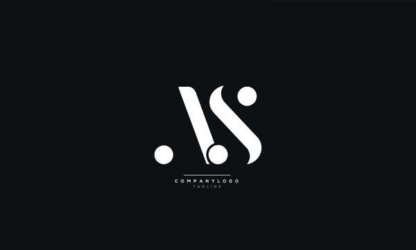 AS Letter Logo Design Icon Vector Symbol