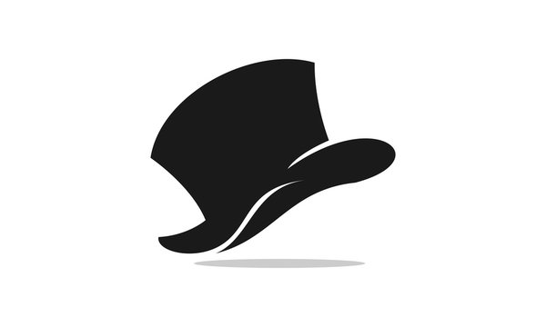 Hat for cowboy or magician vector
