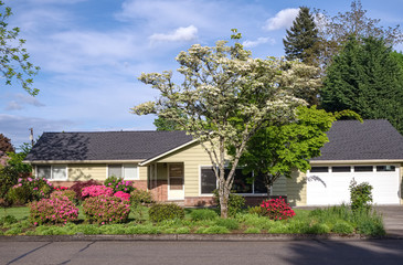 Family home and garden Gresham Oregon.