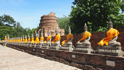 Buddha Statues At Temple
