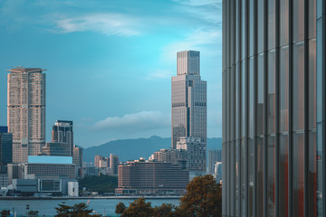 Fotomurales - Hong Kong Skyline; Hong Kong Harbour view
