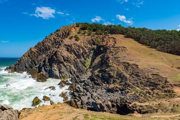 Bald rocky headland at Byron Bay, Australia