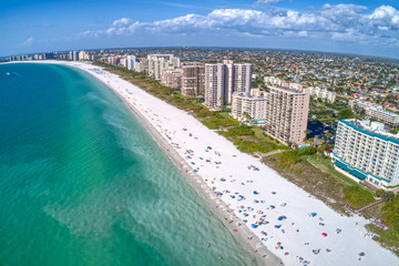Aerial View of Marco Island, A popular Tourist Town in Florida