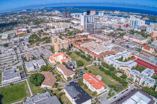 Aerial View of West Palm Beach in Florida