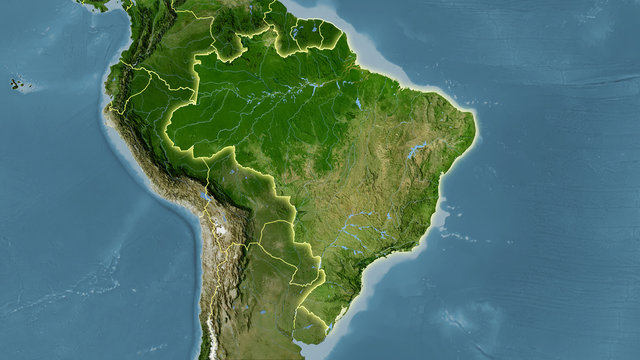 Brazil, satellite B - light glow