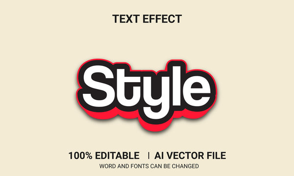 Editable text effects- Style text effects