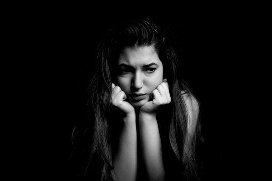 depressed girl experiencing mental breakdown