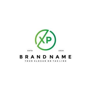 letter XP logo design vector
