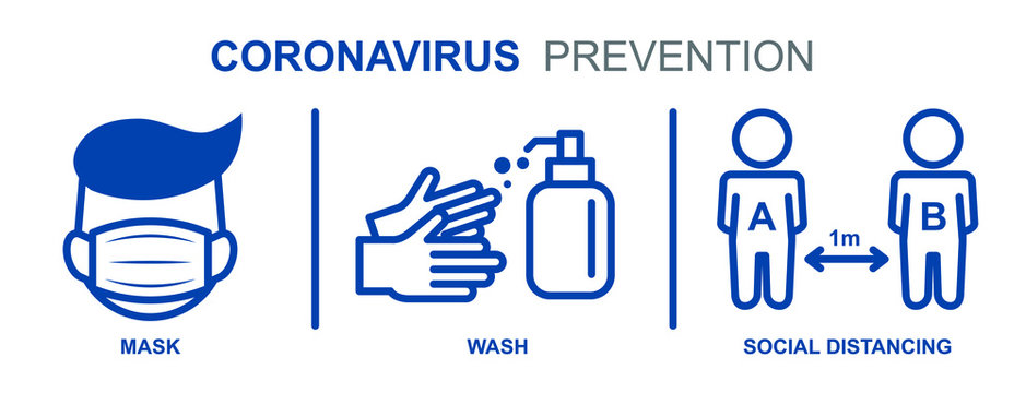 Prevention information related to coronavirus (covid-19). Vector illustration to avoid flu virus