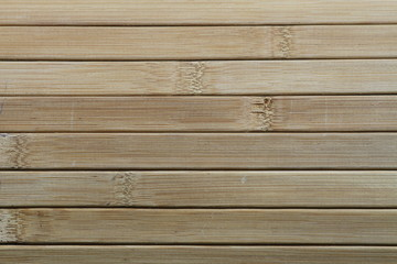Blinds made of quality solid wood. Blinds made by combining wood with handwork. Blinds made of wooden slats. Wooden slats. Natural wood lath line arrange pattern texture background.
