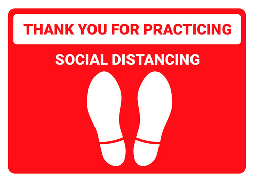 Practice social distancing, keep distance in public facility to avoid or protect from COVID-19 coronavirus outbreak