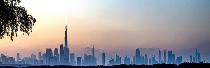 Panorama von Dubai Fotobehang