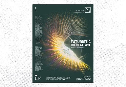 Abstract Light Effect Poster Layout