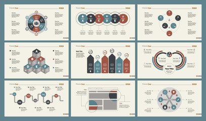 Infographic design set can be used for workflow layout, diagram, annual report, presentation, web design. Business and teamwork concept with process and percentage charts. Wall mural