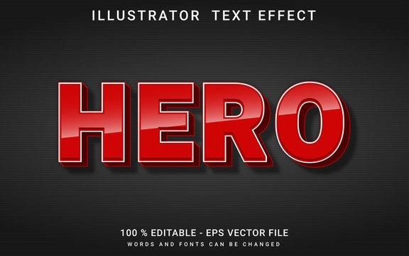 text effect editable hero premium vector