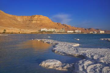 Salt deposits, typical landscape of the Dead Sea.