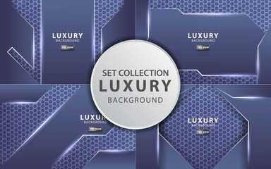 luxury premium blue tech vector background banner design,can be used in cover design, poster, flyer, book design, social media template background. website backgrounds or advertising. Wall mural