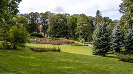 Fototapeta Kadriorg Park, Tallinn / Estonia - September 03 2019. The Kadriorg Park in Tallinn.