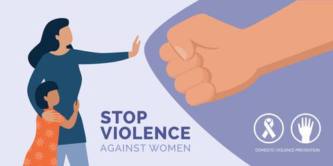 Fototapeta Stop violence against women awareness obraz