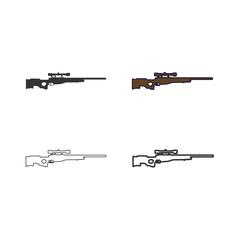 sniper gun icon vector illustration design