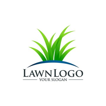 Lawn Care Logo Design Vector Template