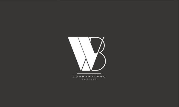 WB BW W B Letter Logo Design Icon Vector Symbol
