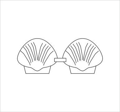 shell bra. illustration for web and mobile design.