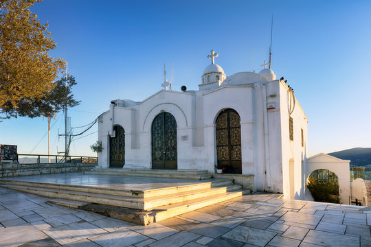Chapel Saint George's on top of Mount Lycabettus in Athens, Greece