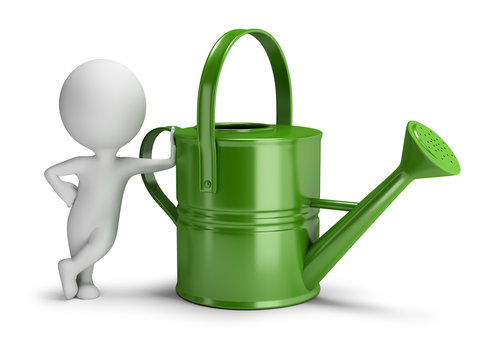 3d small people - watering can