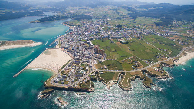 aerial view of Foz in Galicia Spain