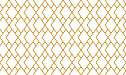 Fotorolgordijn Geometrisch The geometric pattern with lines. Seamless vector background. White and gold texture. Graphic modern pattern. Simple lattice graphic design
