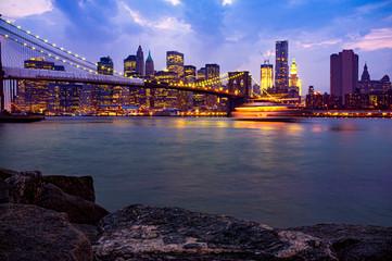 Il ponte di Brooklin a Manhattan