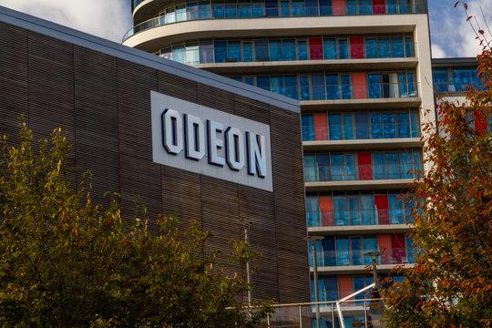 Editorial, Odeon Cinema Theatre sign