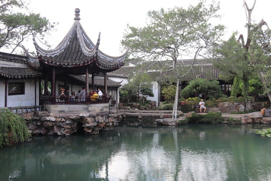Etang du jardin du maître des filets à Suzhou, Chine