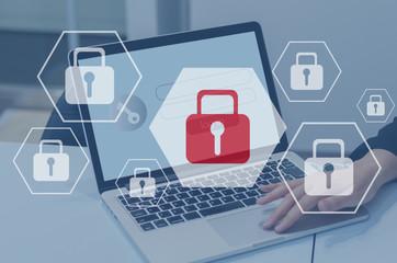 インターネットセキュリティとデータ保護、個人情報 サイバーセキュリティ Wall mural