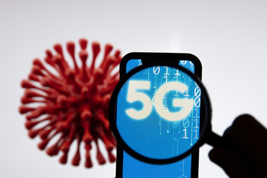 5G mobile phone network technology and link to coronavirus covid-19 outbreak